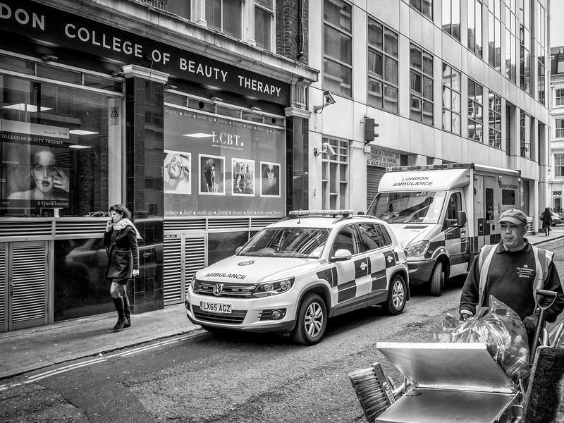 Ambulance at the Beauty College