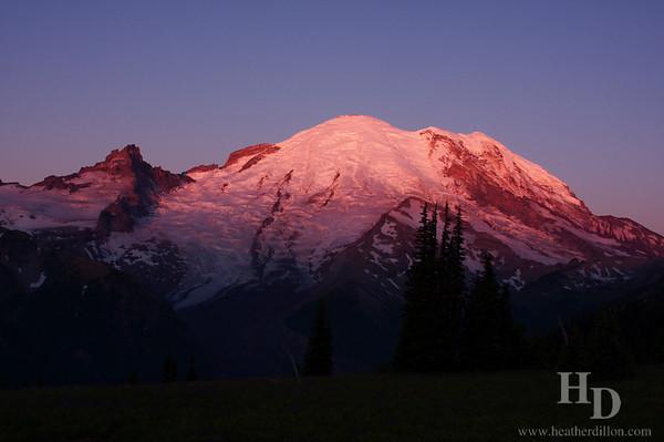 Sunrise at Mt. Rainier