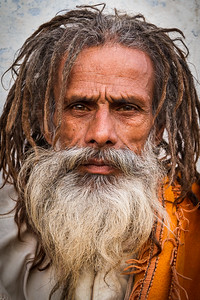 Yogi Sadhu with Dreadlocks  (Pushkar, India)