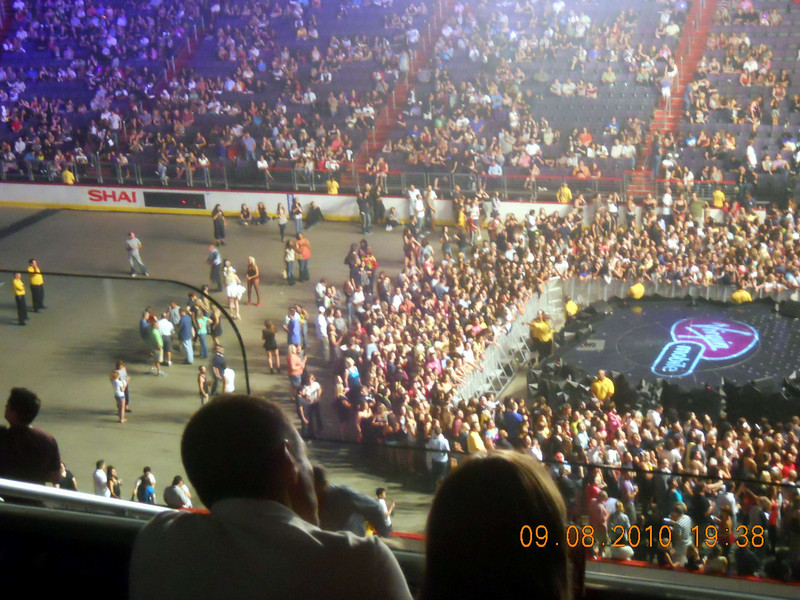 Right before the Gaga Show was about to begin, the Verizon Center is nowhere near full! Lots of standing room on the floor. <br /> <br /> Yet outside we were accosted by dozens of guys looking to buy tickets!