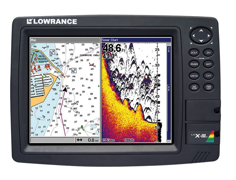 "<p><font face=""Arial"">This screen shot is of the new <a href=""http://www.lowrance.com/Marine/Products/LCX-111chd.asp"">Lowrance LCX-111</a> with built in 20GB hard drive. It is an unbelievable machine. It is integrated with NMEA 2000 and will accept input and on screen display of the new Lowrance radar. One machine for GPS/Sonar/Radar. It's 10 inch super high resolution display is totally viewable in direct sunlight. It is on the cutting edge of today's electronics. This is a definite upgrade for me this year.</font></p>"