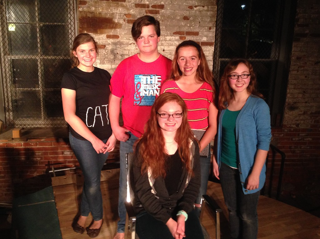 Seated: Clare Speltz, author of FAVORITE COLOR Standing: Abby Kuhlmann, Aidan Driscoll, director Valerie Sauder, Molly Kiley