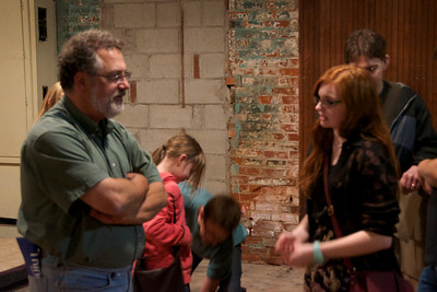 Daved Driscoll, Artistic Director for Words Players Theatre, and Clare Speltz, author of FAVORITE COLOR