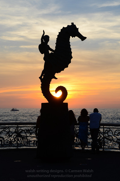 The Seahorse at Sunset