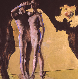 Figures on Yellow and Black
