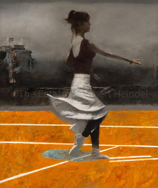 White Skirt, Yellow Floor