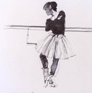 Miyako in Rehearsal - Study