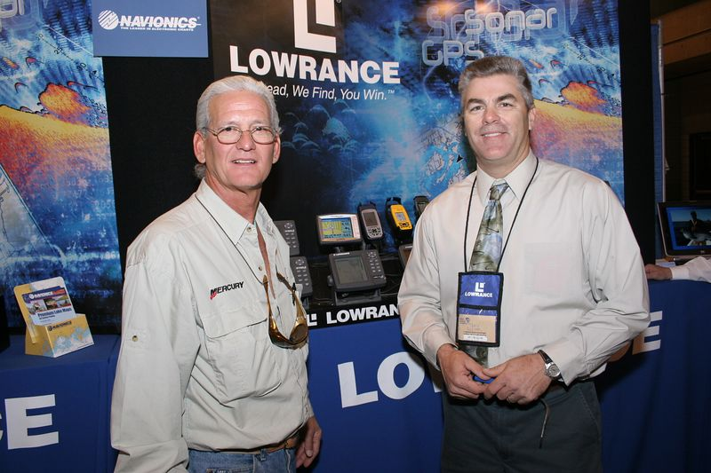 "<p>I always make it a point to stop at the <a href=""http://www.lowrance.com""> Lowrance</a> display and check out the latest in electronics that they have to offer.  I talked to <a href=""http://www.flatsrat.com""> Terry Sullivan</a> who was manning the booth.  Terry is also an excellent fishing guide and striped bass sharpie that fishes the New Jersey shore. </p>"