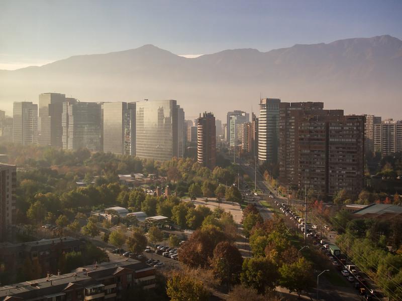 Sunrise in Santiago, Chile, 2012