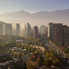 Sunrise in Santiago, Chile, 2012