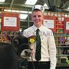 Ifan Wilson from Cardigan was Jersey champion handler. All Breeds All Britain Calf Show 2013, Stoneleigh Park, Warwickshire