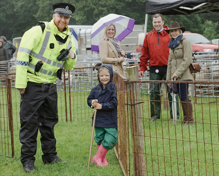 Angus Show 17 Young Shepherdess see with the local Policeman