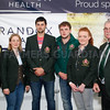Dr Peter Fitzgerald, left, Randox Laboratories with the Northern Ireland team for the World Shearing Championships. From left: Jayne Harkness-Bones; Jack Robinson, Chris Coulter, Rachel Murphy and Robert Harkness. Photograph: Columba O'Hare