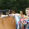 Aileen Ritchie Tamala seen with her Dog and Limousin Champion at Banchory Show 16.