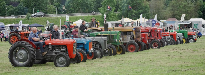 Large entry of vintage tractors at Doune & Dunblane Show