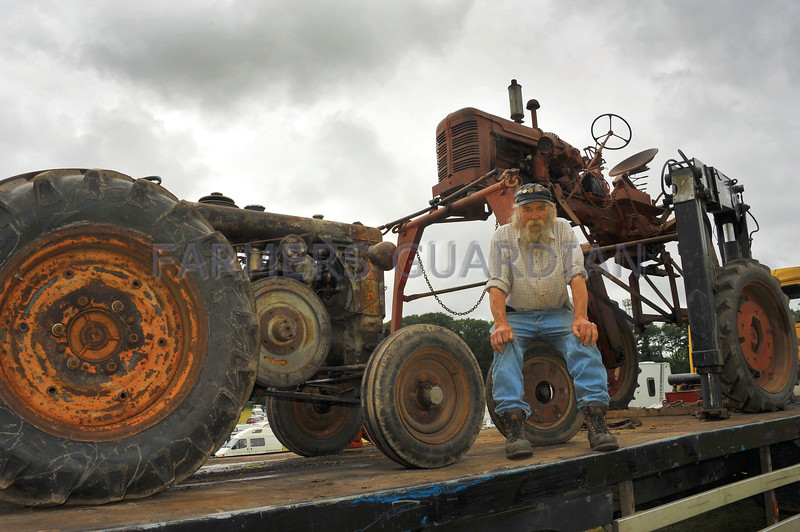 Mr J.A Gill of West house Farm, Allerton bbradford with his !950's  Landini 125 tractor and International FC High Clear