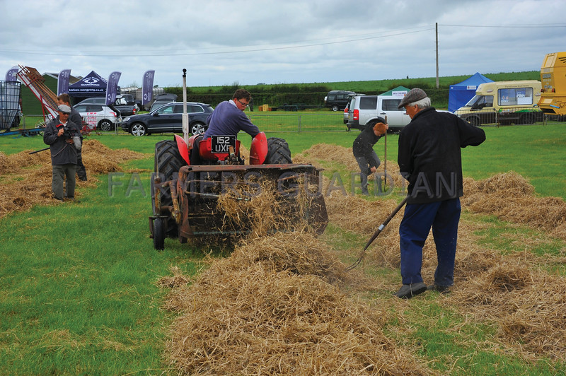 Josh Burns of Chorley with the a 1960's Massey Ferguson 35 and straw woofler
