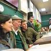 Sheep judges (L-R) Joanne Hall, Jack Lawson, and James Raine.