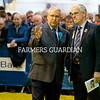 Royal Ulster Winter Fair Judge, Brian Behnke, left, chats to ring steward John Henning. Photograph: Columba O'Hare/ Newry.ie