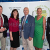 The launch of the BVD project at the Royal Welsh Show. (L-R) Dr. Neil Paton, Welsh Government Environment Cabinet Secretary Lesley Griffiths, Chairman of Animal Health Welfare Framework Peredur Hughes, Prof. Christianne Glossop, and John Griffiths.