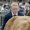 Judge Drew Hyslop, Boquhan Home Farm, Kippen seen judging at Turriff Show