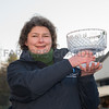 Helen Davies with her award.