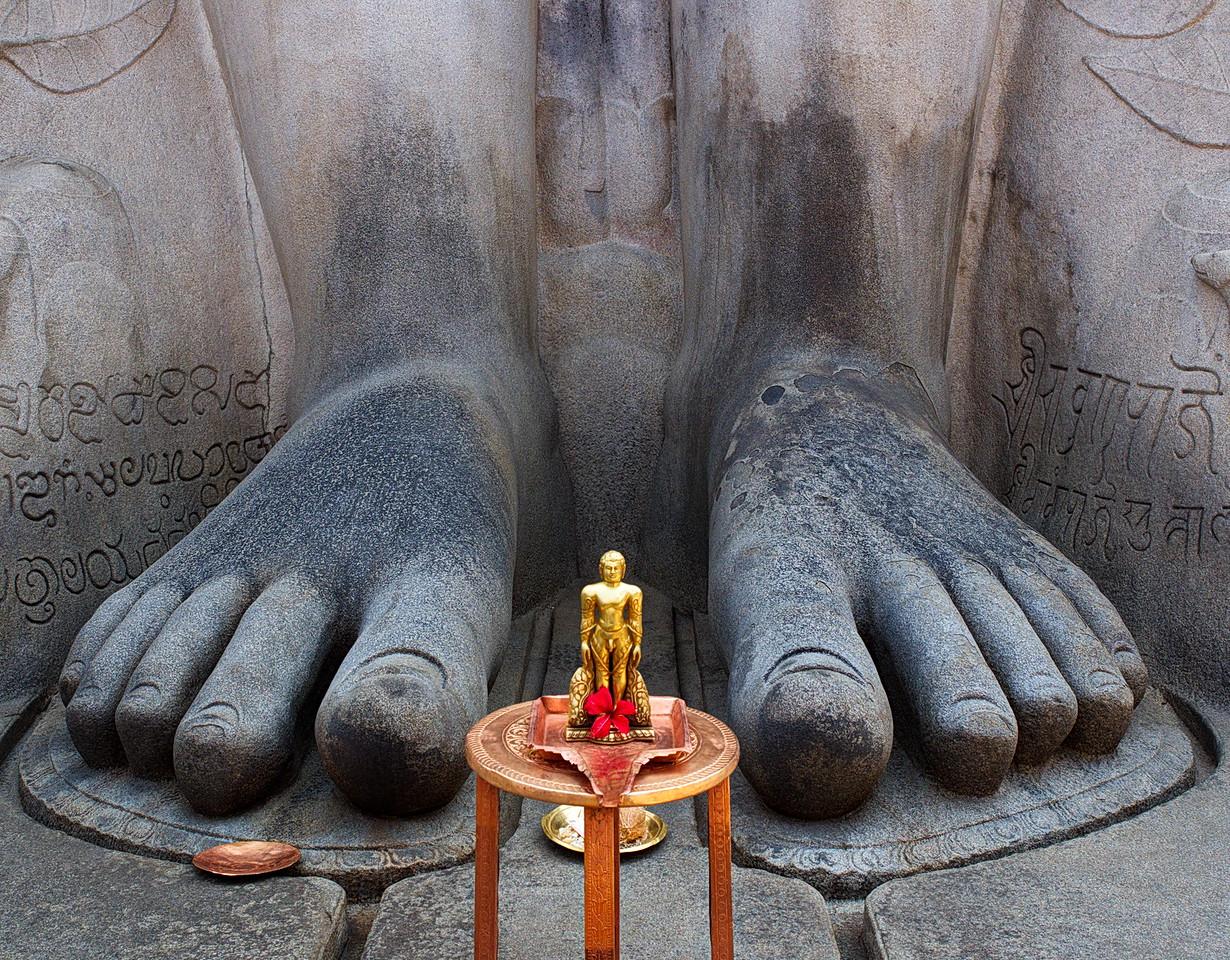 Feet of  Gommateshwara