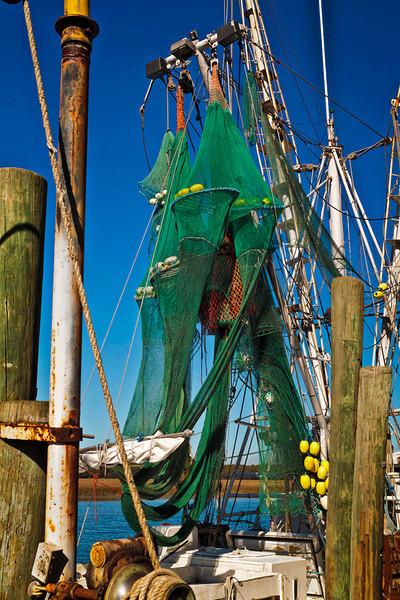 """""""Shrimp Nets at Rest""""<br /> Village Creek<br /> St. Helena Island, SC"""