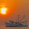 """Sunrise Trawler""<br /> Calibogue Sound<br /> Hilton Head Island, SC"