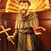 Close up of St Francis, 19th century statue restored by Center Art Studios