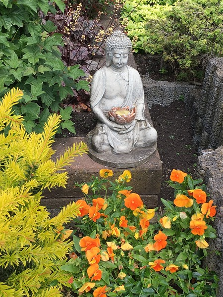 Buddha, Garden shrine, Volendam, The Netherlands