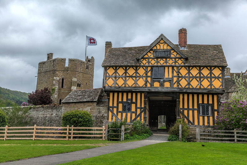 Gatehouse and Stokesay Castle in Shropshire