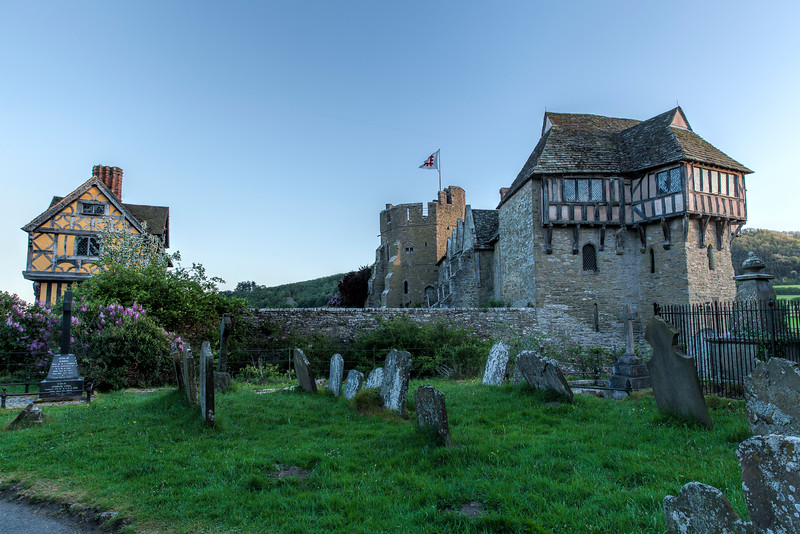 Cemetery at Stokesay Parish Church and Stokesay Castle