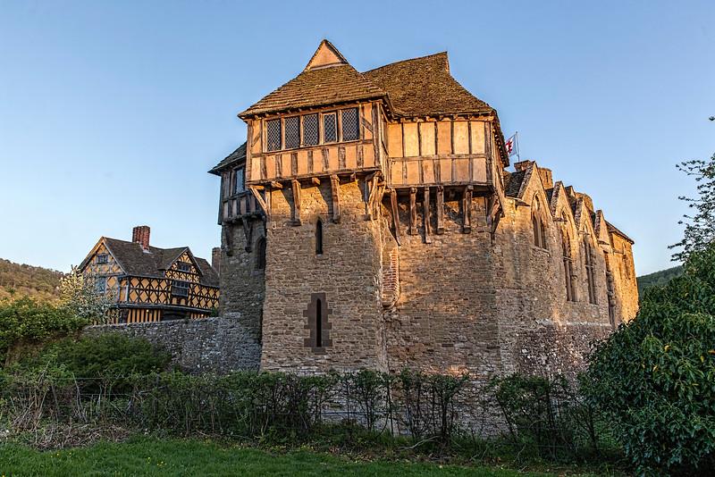 Stokesay Castle in Shropshire near Ludlow