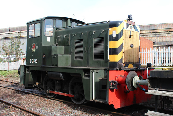 D2853 at Frodingham giving rides at Scunthorpe Steelworks. 05.10.14
