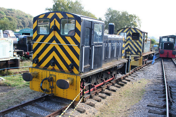 03037 sits at the new shed at Rowsley awaiting restoration. 26.09.09