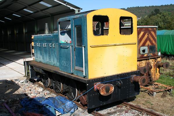 03027 sits at the new shed at Rowsley awaiting restoration. 26.09.09