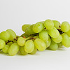white grapes on a white background