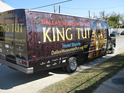 Dallas Museum of Art, King Tut Exhibit, Hotel Shuttle, Dallas, TX