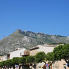 Looking up at Erice from Valderice