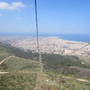 Looking down at Trapani from the gondola