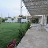 The yard at La Portazza, B&B near the coast, just north of Marsala.