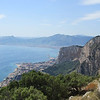 Looking east towards Palermo from the summit, Monte Pellegrino