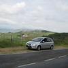 Ford C-Max TDCi 5 speed manual transmission, diesel. Versatile - good on the mountain roads & switchbacks, and nice acceleration/cruising speeds on the autostrada.