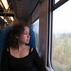 On the train from Cefalu to Palermo