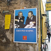 "'Heroes forever': this poster was up all over Palermo, mostly in multiple arrays. It shows two magistrates brutally killed by the mafia: Giovanni Falcone (left), killed in a 1992 car bomb attack along with his wife & 3 bodyguards: <br /> <a href=""http://en.wikipedia.org/wiki/Giovanni_Falcone"">http://en.wikipedia.org/wiki/Giovanni_Falcone</a><br /> And Paolo Borsellino (right), his fellow magistrate and friend, killed 2 months later along with 5 policemen by another car bomb <br /> <a href=""http://en.wikipedia.org/wiki/Paolo_Borsellino"">http://en.wikipedia.org/wiki/Paolo_Borsellino</a>"