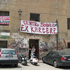 Squatters occupy this large building in the Albergheria Quarter