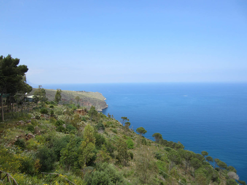 Looking NW along the Golfo di Castellammare