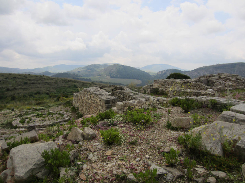View from the top of Monte Barbaro. There are many layers of archaeological remains from all of the previous inhabitants.