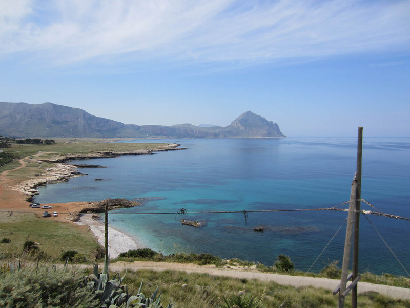Looking south to Monte Cofano